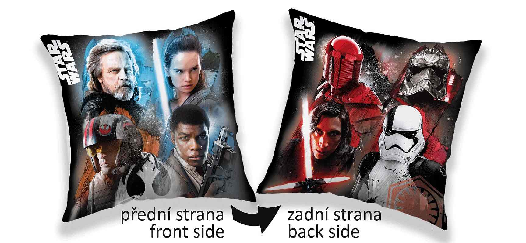 Obliečka na vankúšik Star Wars dark light 40/40