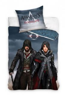 Obliečky Assassin's Creed Syndicate Jacob a Evie 140/200 cm