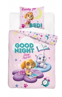Obliečky do postieľky Paw Patrol Good Night 100/135, 40/60