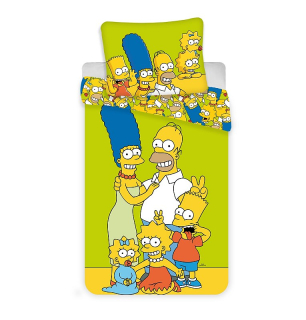 Obliečky Simpsons Family green 140/200, 70/90