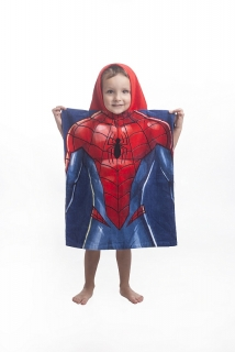 Pončo Spiderman blue 50/115
