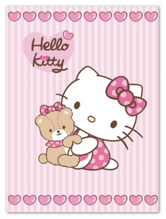 Španielska deka Hello Kitty Teddy 80/110