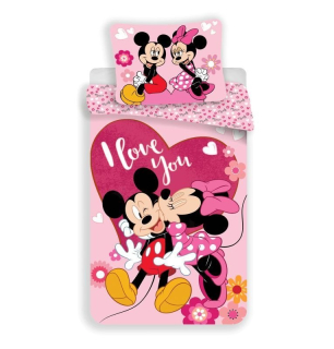 Obliečky Mickey a Minnie Kiss micro 140/200, 70/90
